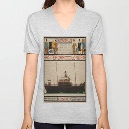 Vintage poster - Rotterdam - London Unisex V-Neck