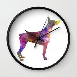 Dobermann 01 in watercolor Wall Clock