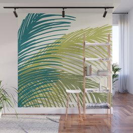 Palm Silhouette Series - Hawaiian Greenery Palette Wall Mural