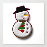 snowman Canvas Prints featuring Snowman by Gaspar Avila