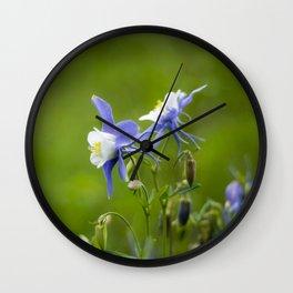 Woodland Columbine II Wall Clock