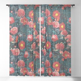 NIGHT FOREST XIX Sheer Curtain