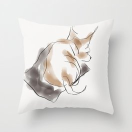 Puppy Lovers- pit bull puppy in watercolor Throw Pillow