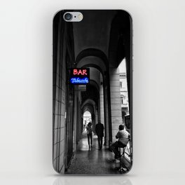 Bar Tabacchi in Bologna Black and White Color Splash Photography iPhone Skin