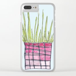Little Potted Plant Clear iPhone Case
