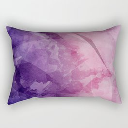 Violet - Watercolor Painting in Ultra Violet Purple and Pink Rectangular Pillow