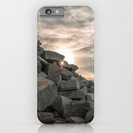 Rocks sky and sea iPhone Case