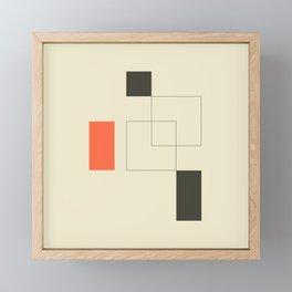 Geometric Abstract Art Framed Mini Art Print