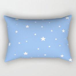 Scattered Stars on Sky Blue Rectangular Pillow