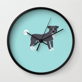 pitbull farting dog cute funny dog gifts pure breed dogs Wall Clock