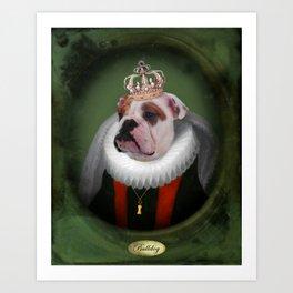 English Bulldog Art - Lucy Art Print