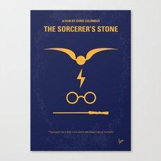 No101-1 My HP - SORCERERS STONE minimal movie poster Canvas Print
