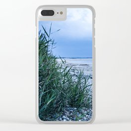 Sand & pebbles Clear iPhone Case