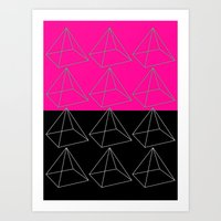 pyramid Art Prints featuring Pyramid by Georgiana Paraschiv