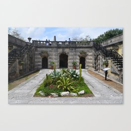 Cactus Patch at Vizcaya Canvas Print