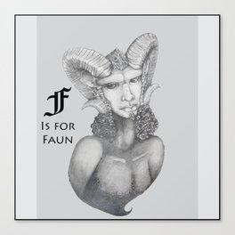F is for Faun Canvas Print