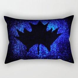 Maple leaf dark blue Rectangular Pillow
