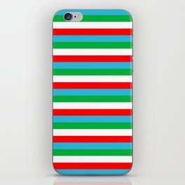 Djibouti Uzbekistan Equatorial Guinea flag stripes iPhone Skin