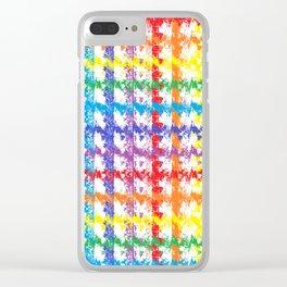 Rainbow Scratch Clear iPhone Case