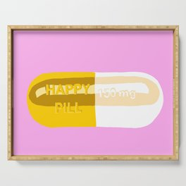 Happy Pill Pink Serving Tray
