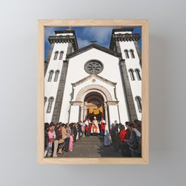 Church in Furnas Framed Mini Art Print