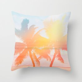 Tropicana seas - sundown Throw Pillow