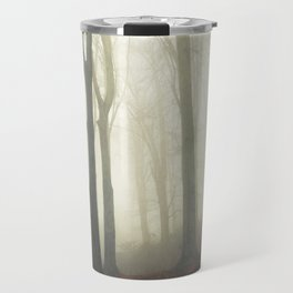 forest in fog Travel Mug