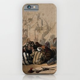 Vintage Print - The Holy Land, Vol 3 (1843) - Conference of Arabs at Wadi Moosa, Petra iPhone Case