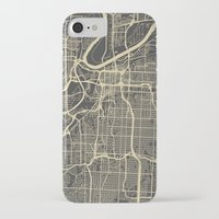 kansas city iPhone & iPod Cases featuring Kansas City map by Map Map Maps