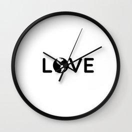 LOVE THE EARTH Wall Clock