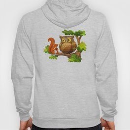 The Owl and The Squirrel Hoody