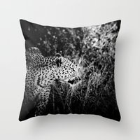 leopard Throw Pillows featuring Leopard by BethWold