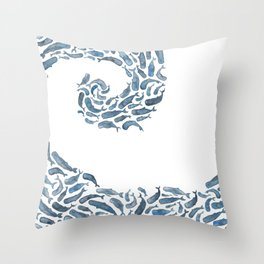 Whale Wave.  Throw Pillow