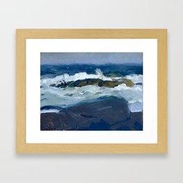 George Bellows - Rock Reef, Maine, 1913 Framed Art Print