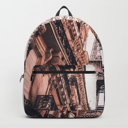 Paris Eifel Tower Pink photography in HD Backpack