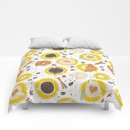 Coffee upper view Comforters
