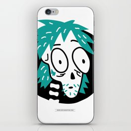 Zombie face iPhone Skin