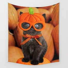 Halloween cat Wall Tapestry