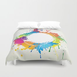 Abstract grunge background with paint splats Duvet Cover
