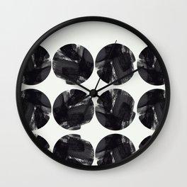 minimal brush stroke geometrical pattern Wall Clock