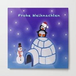 Frohe Weihnachten Metal Print