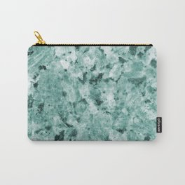 Mint Green Crystal Marble Carry-All Pouch