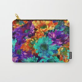 Colored Daisies Carry-All Pouch