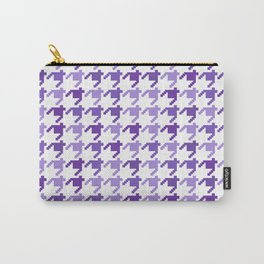 AFE Violet Houndstooth Pattern Carry-All Pouch