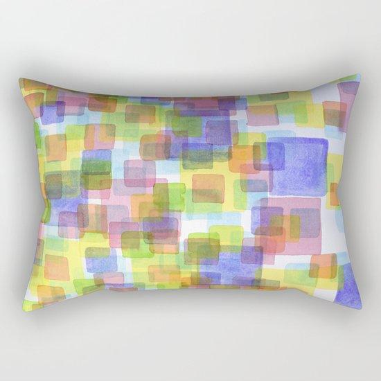 Floating Lightfull Squares  Rectangular Pillow