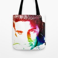 elvis Tote Bags featuring Elvis by D77 The DigArtisT