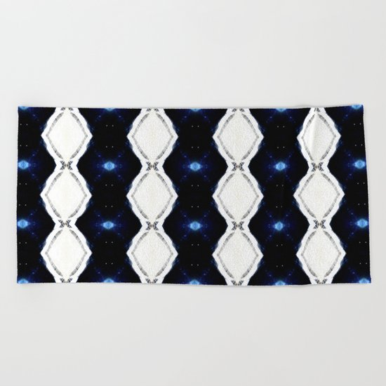SPACE THRU RIBBONS Beach Towel