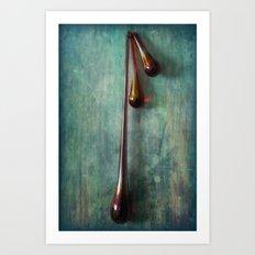 Glass Drops Art Print