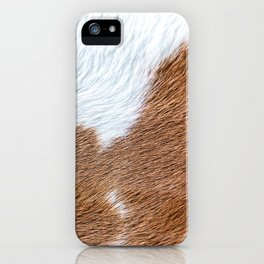 Cow Hide Print Pattern iPhone Case