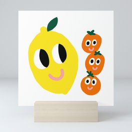 Citrus Friends Mini Art Print